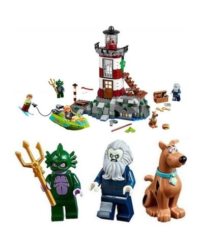 Ngọn hải đăng bí ẩn với những nhân vật xuất hiện trong chuyến đi: chú chó Scooby-Doo, Kẻ canh giữ ánh sáng, Quỷ Swamp