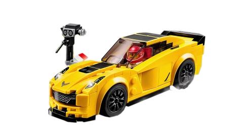Lego Speed Champions 75870 - Xe Đua Chevrolet Corvette Z06 - mô hình hoàn chỉnh