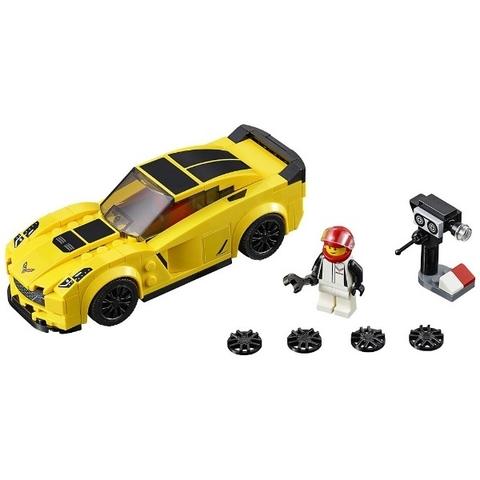 Lego Speed Champions 75870 - Xe Đua Chevrolet Corvette Z06 - các chi tiết trong bộ đồ chơi