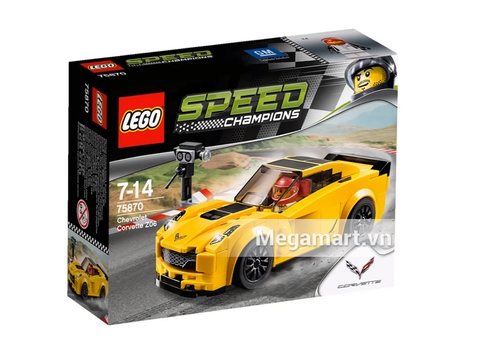 Ảnh bìa sản phẩm Lego Speed Champions 75870 - Xe Đua Chevrolet Corvette Z06