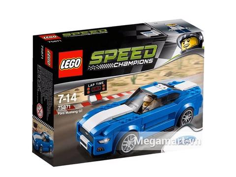 Hình ảnh vỏ hộp sản phẩm Lego Speed Champions 75871 - Xe Đua Ford Mustang Gt