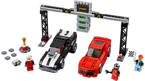 Bộ ghép hình Lego Speed Champions 75874 - Xe Đua Chevrolet Camaro Drag Race thiết kế tinh xảo