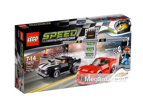 Hình ảnh bộ ghép hình Lego Speed Champions 75874 - Xe Đua Chevrolet Camaro Drag Race