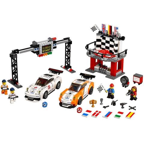 Bộ xếp hình Lego Speed Champions 75912 - Đích đến Porsche 911 GT thỏa mãn ước mơ tốc độ của trẻ