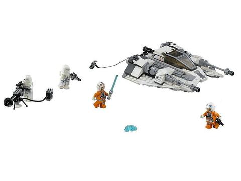 Trọn bộ các chi tiết có trong bộ xếp hình Lego Star Wars 75049 - Tàu Trượt Tuyết
