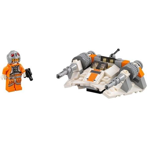 Trọn bộ các mô hình Lego Star Wars 75074 - Tàu Trượt Tuyết sau khi bé hoàn thành