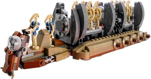 Các miếng ghép được thiết kế mở, bé sẽ tha hồ sáng tạo cùng bộ xếp hình Lego Star Wars 75086 - Battle Droid Troop Carrier
