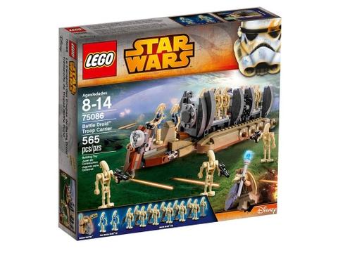 Vỏ hộp ngoài bộ đồ chơi Lego Star Wars 75086 - Battle Droid Troop Carrier
