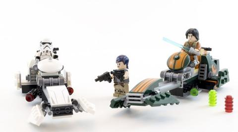Lego Star Wars 75090 - Tàu Đua Của Ezra - cận cảnh trận chiến