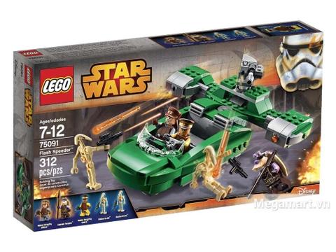 Hộp đựng đồ chơi Lego Star Wars 75091 - Tay đua tia chớp