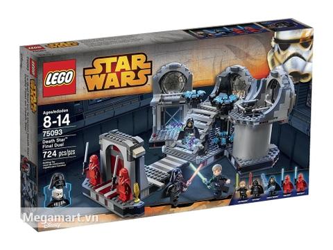 Vỏ hộp bộ đồ chơi Lego Star Wars 75093 - Vì Sao Chết -Trận Song Đấu Cuối Cùng