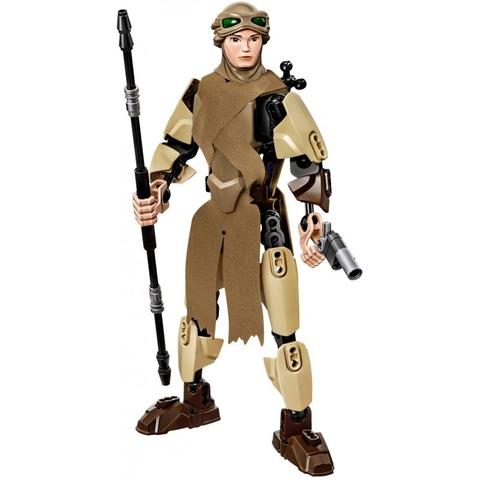 Nhân vật Rey với chiều cao 23 cm gấp 6 lần so với những mô hình nhân vật Lego thông thường
