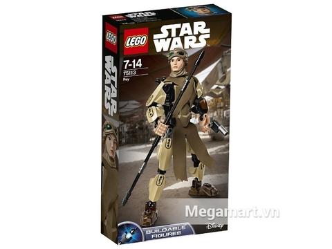 Hình ảnh vỏ hộp bộ đồ chơi Lego Star Wars 75113 - Nhân Vật Rey