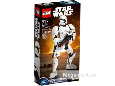 Vỏ hộp đựng Lego Star Wars 75114 - Lính Stormtrooper của Tổ Chức Thứ Nhất