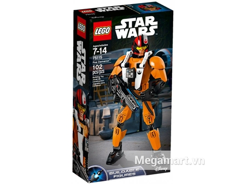Vỏ hộp của bộ đồ chơi Lego Star Wars 75115 - Phi công Poe Dameron