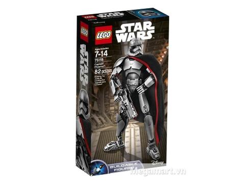 Vỏ hộp bộ đồ chơi Lego Star Wars 75118 - Đại Úy Phasma