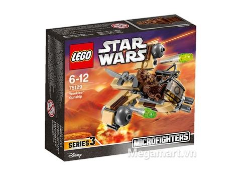 Hình ảnh vỏ hộp đựng thiết kế tinh tế của bộ đồ chơi Lego Star Wars 75129 - Phi Thuyền Chiến Đấu Của Wookiee