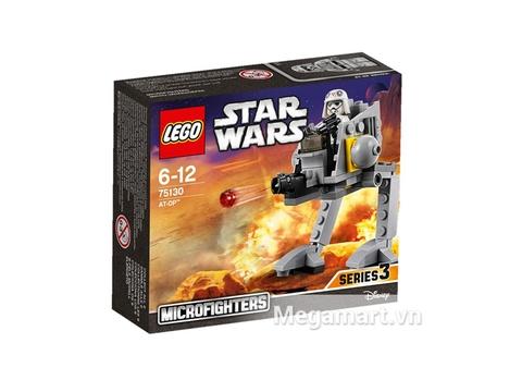 Thiết kế bên ngoài hộp Lego Star Wars 75130 - Cỗ Máy AT-DP