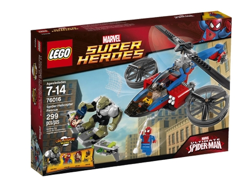 Vỏ hộp sản phẩm Lego Super Heroes 76016 Spider - Helicopter Rescue
