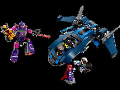 Mô hình ấn tượng trong Lego Super Heroes 76022 - Dị Nhân Đương Đầu Lính Canh