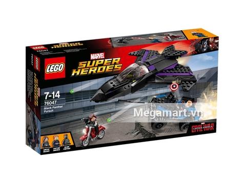 Vỏ hộp bên ngoài bộ sản phẩm Lego Super Heroes 76047 - Vụ Trộm Nguy Hiểm Chết Người