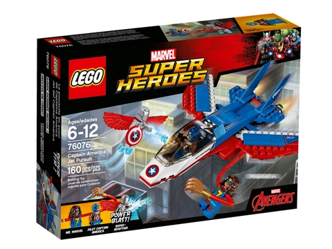 Hình ảnh vỏ ngoài của sản phẩm Lego Super Heroes 76076 - Captain America truy kích bằng máy bay phản lực