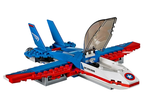 Những điểm đặc biệt trong bộ xếp hình Lego Super Heroes 76076 - Captain America truy kích bằng máy bay phản lực