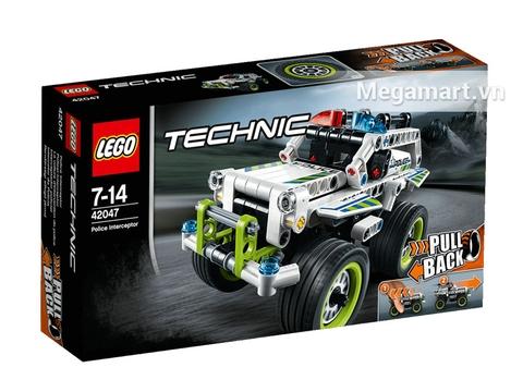 Hình ảnh vỏ hộp bộ Lego Technic 42047 - Xe Cảnh Sát Địa Hình