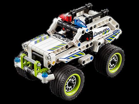 Lego Technic 42047 - Xe địa hình của sở cảnh sát với bánh lớn, động cơ khỏe