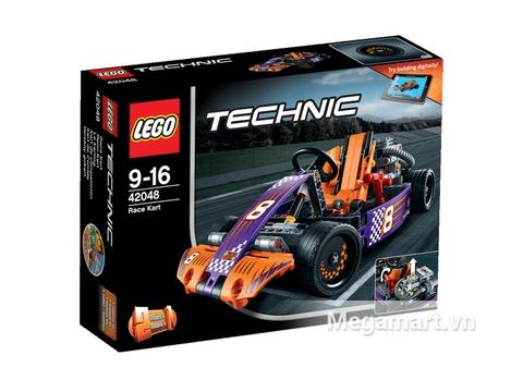 Hình ảnh vỏ hộp bộ Lego Technic 42048 - Xe Đua Thể Thức 1 Mini