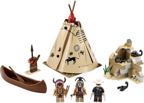 Trọn bộ các chi tiết có trong Lego The Lone Ranger 79107 - Thăm trại Comanche