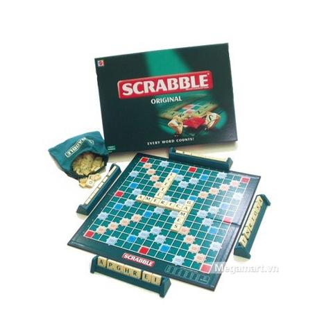 Thiết kế ấn tượng của Mattel Games Scrabble Trò chơi ghép chữ tiếng anh (màu đen)