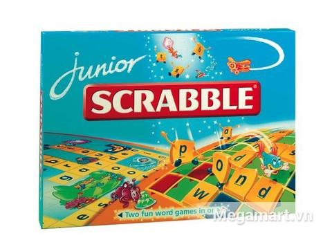 Hình ảnh vỏ hộp bộ Mattel Games Scrabble tiếng Anh Junior