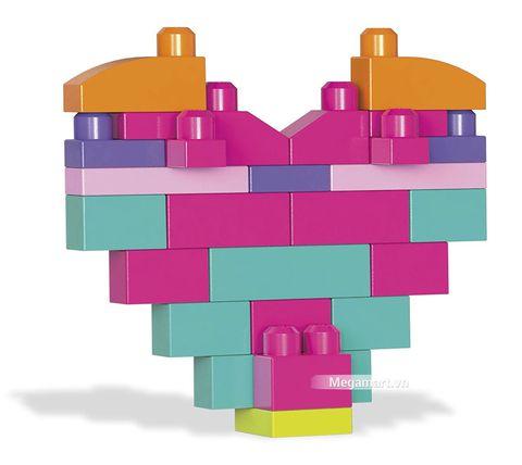 Các mô hình ấn tượng trong bộ Mega Bloks Xếp khối cơ bản túi lớn hồng (80 khối)
