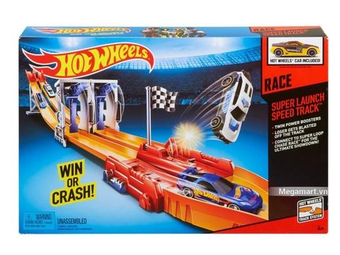 Hình ảnh vỏ hộp bộ Hot Wheels Đường đua siêu tốc độ