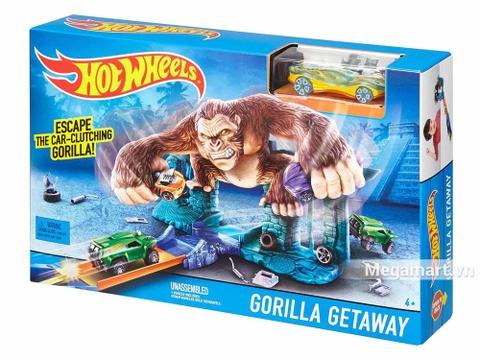 Hình ảnh vỏ hộp bộ Hot Wheels Trốn thoát khỏi Gorrila