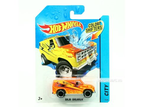 Hot Wheels Xe đổi màu Baja Beaker - đồ chơi cho bé yêu xe