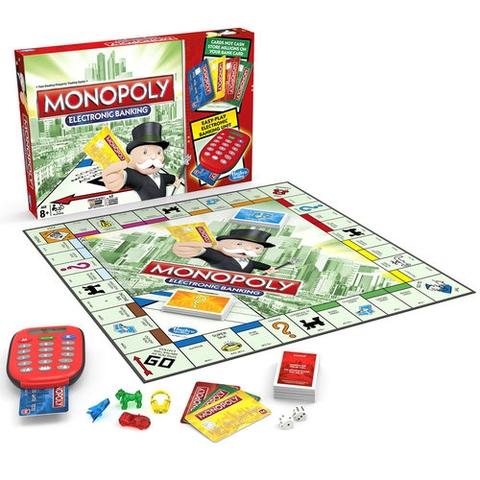 Hasbro Gaming Cờ tỷ phú Monopoly ngân hàng điện tử - tổng thể các chi tiết trong bộ đồ chơi
