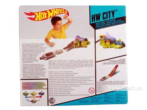Hot Wheels đường đua đổi màu - Oanh tạc đầm lầy - ảnh bìa sau sản phẩm