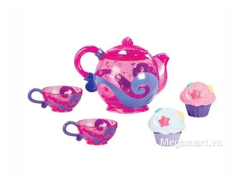 Munchkin Bộ tiệc trà trong nhà tắm màu sắc sặc sỡ, họa tiết sinh động