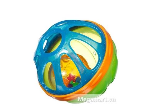 Với Munchkin Bóng xúc xắc bé có thể chơi trong nhà tắm hay chơi trên mặt đất