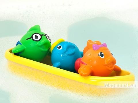 Bộ Munchkin Cá bơi thuyền gồm 3 chú cá dễ thương và chiếc thuyền màu vàng xinh xắn