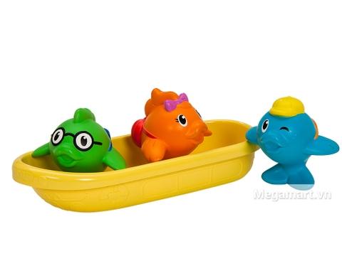 Bộ đồ chơi Munchkin Cá bơi thuyền thiết kế sinh động, bắt mắt
