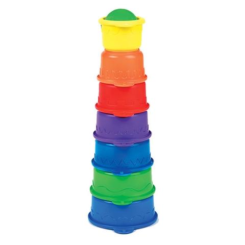 7 chiếc cốc xinh xắn trong bộ đồ chơi nhà tắm Munchkin Sâu 3 trong 1