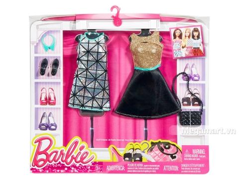 Barbie Bộ sưu tập thời trang váy bạc và vàng đen - Vỏ hộp ngoài của sản phẩm