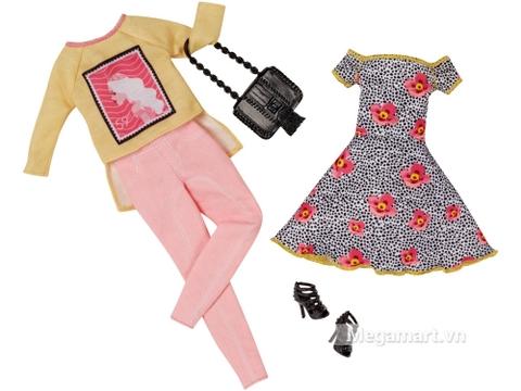 Trẻ trung năng động cùng Barbie Bộ sưu tập thời trang váy hoa, quần hồng
