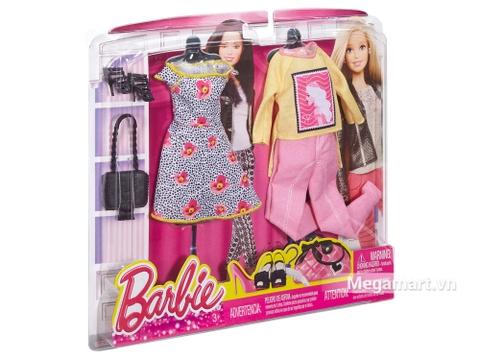 Trẻ trung năng động cùng Barbie Bộ sưu tập thời trang váy hoa, quần hồng -1