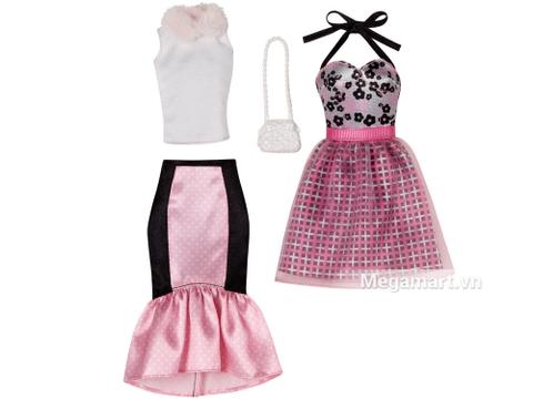 Barbie Bộ sưu tập thời trang váy hồng dạ hội - bộ trang phục sành điệu