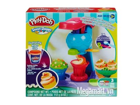 Hộp đựng đồ chơi đất nặn Play-Doh A4896 - Máy làm kem đơn giản