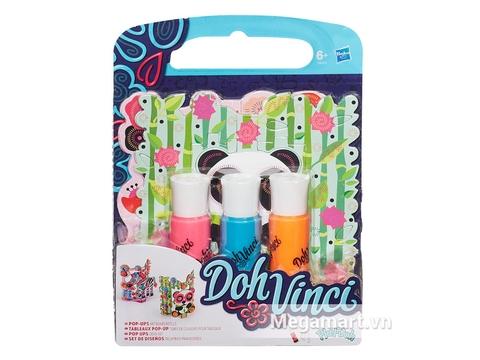 Trọn bộ các chi tiết có trong bộ đồ chơi Play-Doh A8325 - Tranh Dohvinci căn bản
